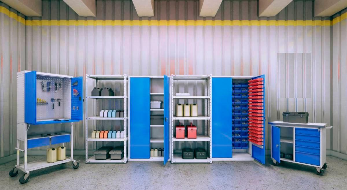 Инструментальная мебель для подсобных помещений больниц